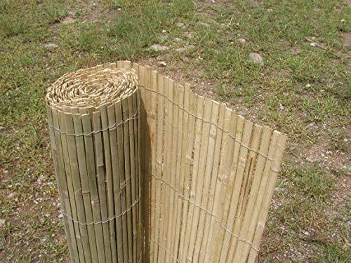 Bambuszaun, Bambus Sichtschutzmatte, Bambusmatte 500 cm H 150 cm, gespalten
