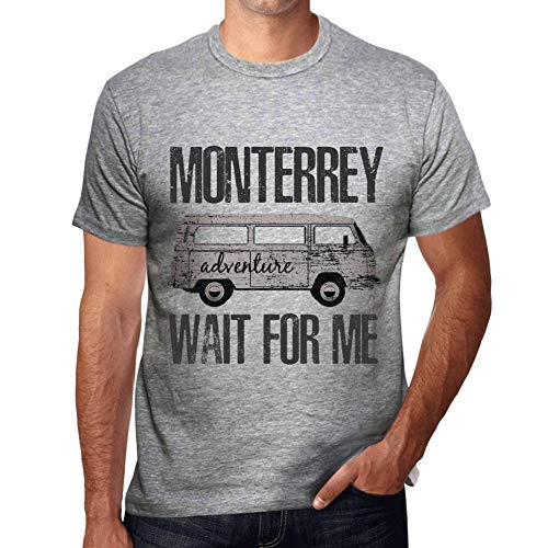 One in the City Hombre Camiseta Vintage T-Shirt Gráfico Monterrey Wait For Me Gris Moteado