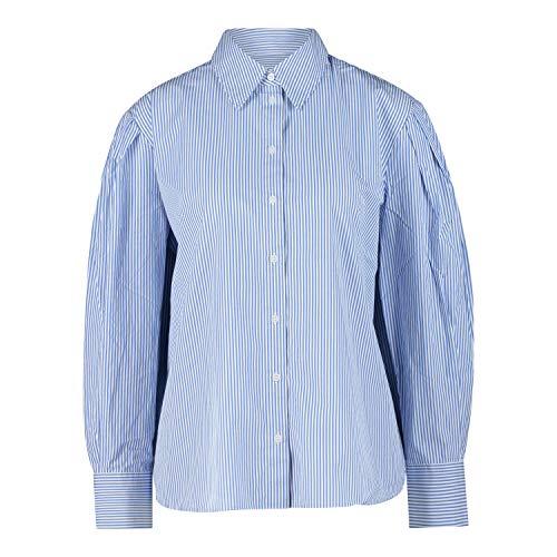 OPUS Hemdbluse Streifen-Optik 'Fasa' blau (6081 Blue Mood) 44
