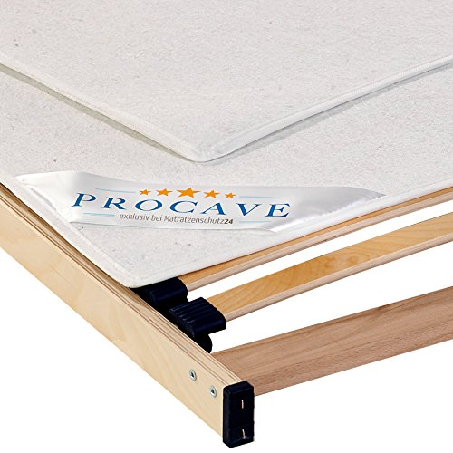 PROCAVE, Protector somier Fieltro, Cubre somier Protector, Protector colchón, Transpirable de Fieltro punzonado, Made in Germany, 60x120 cm