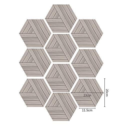 YSDDM Bad mat Fun Vision DIY hout Tegel Stickers voor Badkamer keuken waterdichte vloer sticker anti slip vloertegel Decoratieve Home Decor-in Muurstickers van Huis & Tuin
