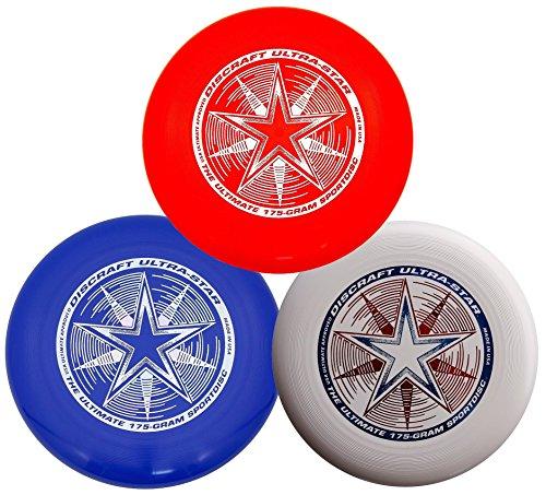 Discraft 175g Ultimate Disc Bundle (3 Discs) Red, White & Blue