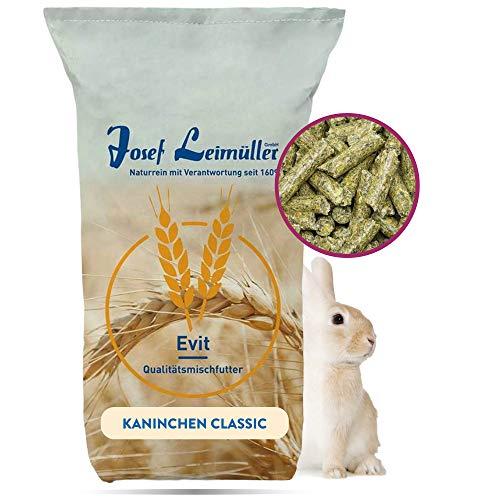 Leimüller Kaninchenfutter 25kg Pellets Classic | Qualitätsfutter für Kaninchen und Hasen | für Erhaltung und Zucht Aller Rassen | ohne Gentechnik | hergestellt in Österreich