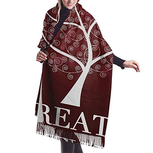 Bufanda larga cálida suave Otoño Invierno Primavera Abrigo Árbol de la respiración Chales ligeros y amigables con la piel Bufandas de cachemira adolescentes y adultos