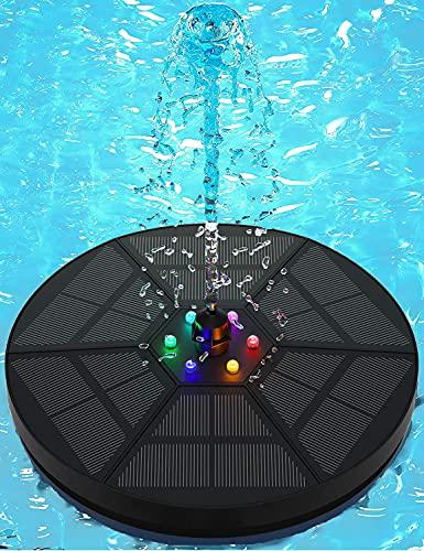 Senders Fontein op zonne-energie, 3,5 W, vijverpomp op zonne-energie, drijvende fonteinpomp voor tuinvijver of fontein, vijver, vogelbad, vishouder