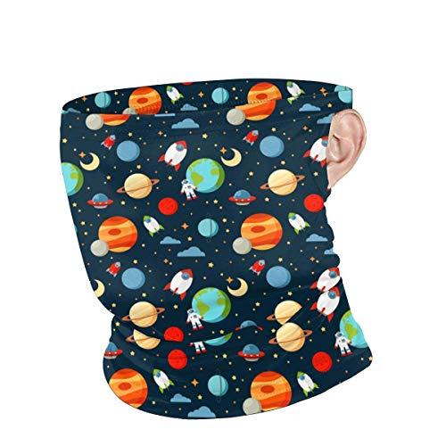 Lawenp Scaldacollo Unisex Planetary Astronaut riutilizzabile Face neck Summer Bandane traspiranti