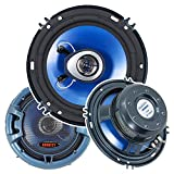 """6. 5"""" 2 Way car speakers Power handling: peak: 230 watts total/ 115 watts each Silver Alpha cellulose cones 