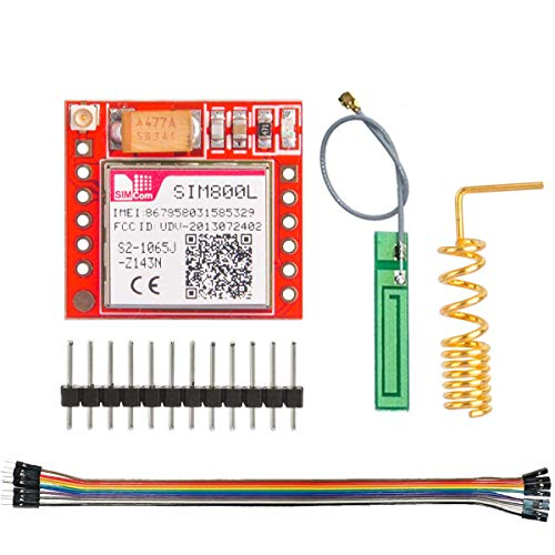 Youmile SIM800L GPRS GSM Module MicroSIM Card Core Board Quad-band TTL Serial Port for Arduino with Antenna 3.7-4.2V with Dupont Cable