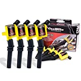 8 Pcs Ignition Coil Pack compatible with Ford F150 F250 Explorer Lincoln Mercury 4.6L 5.4L V8 V10, Upgraded Coil Pack compatible with DG508 DG457 DG472, Yellow