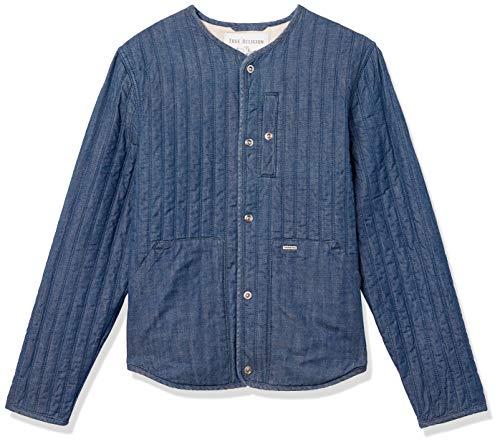 True Religion Herren Denim Fill Liner Long Sleeve Jacket Jeansjacke, Aufladung, XXX-Large
