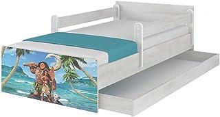 Original Disneys barnsäng med fallskydd, låda och madrass 80 x 160 Moana