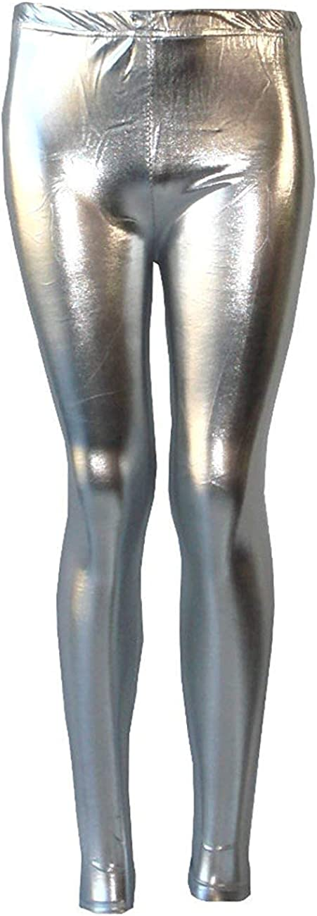 AEL Shiny Girls Leggings Dance Disco Kids Christmas Color Tight Pants Size 7 8 9 10 11 12 13 Years