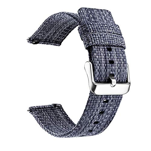 LITOSM Correa Reloj,Watch Straps 18 mm 20 mm 22 mm Reloj de Reloj para Galaxy Watch 46mm 42mm Gear S3 S2 Sport Watch Strap Reemplazo (Band Color : Blue, Band Width : 18mm)