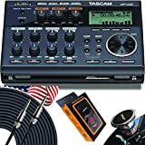 TASCAM DP-006 6-Track Portable Digital Multitrack Recorder with 2 Built-in Microphones with EMB Cable and Gravity Magnet Phone Holder Bundle
