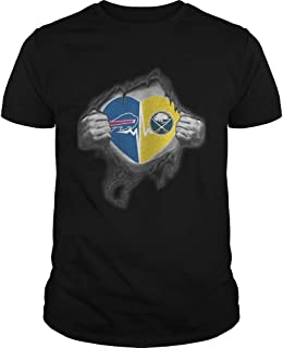 New Collection T shirt for Woman, Man anniversary Bills Sabres Its in my heart inside me shirt