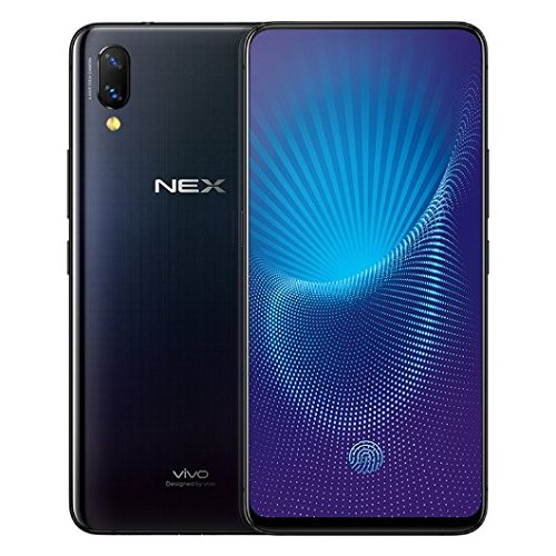 Vivo Nex S Mobile Phone Snapdragon 710/845 Octa Core 6.59' OLED Full Screen Auto-elevated Camera 4000mAh Type-C AI HiFi Support Google By-(REAL STAR TECHNOLOGY)(8G 256GB black flagship)