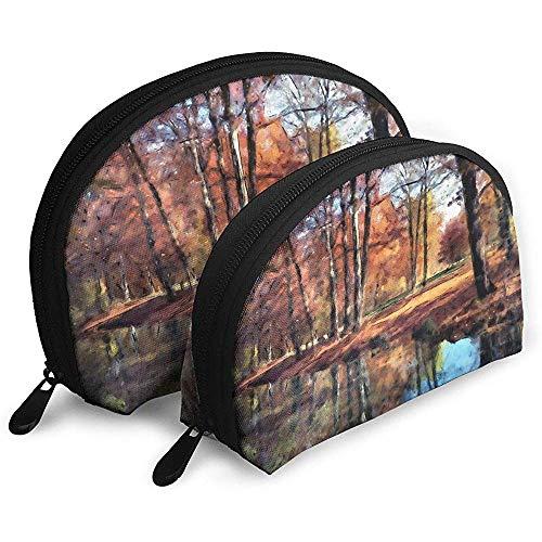 Herbst Bayern Park Natur Baum tragbare Taschen Make-up Tasche kulturbeutel multifunktions tragbare reisetaschen mit reißverschluss