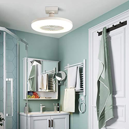 WRMING Modernen Deckenventilator mit Licht, Leise Ventilator LED Energiesparlampe, für E27 Buchse, 20W LED Glühbirne, Tragbar Fan Lamp für Küche, Badezimmer, Geschäft, Balkon, Ø30cm, 6000K