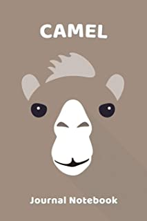 Camel Notebook Journal: Zoo Farm Animal Face Close Up Note Book Journal Diary, Cool Gift for Men, Women, Kids 118 pages 6x...