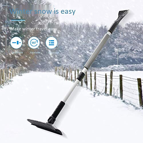 Why Should You Buy Retractable Snow Brush, Extendable Car Multifunction Snow Removal Shovel Winter S...