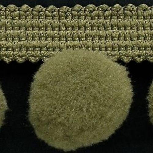XL Pom Pom frange Garniture Bobble galon – Taille XL 2 cm (2 cm) Best Qualité. (par mètre) Olive # C