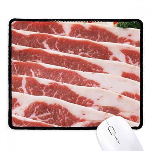 DIYthinker Chuletas de cerdo Carne de Alimentos textura antideslizante Mousepad Juego de oficina Negro Titched Bordes regalo