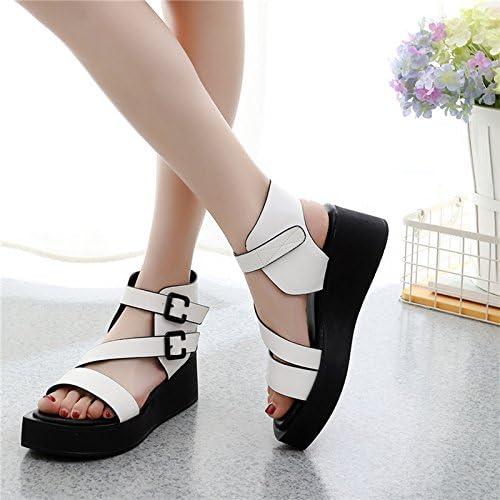 GTVERNH-Printemps été Des Sandales De Sexe Féminin Le Polyuréthane Chaussures Semelles épaisses 6 Cm Rome Simple Tout Concorde Loisirs Mode