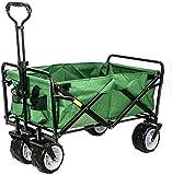 Beach Carts, Handcart Foldable, 80 Kg Load Capacity, 7 Inch Offroad Wheel, Adjustable