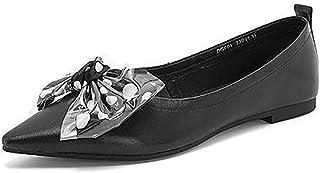 [KYUNEKY12] パンプス 23.5cm レディース フラットシューズ とんがり ぺたんこ 就活 デート 25.0 24.0 蝶結び ファッション デイリー ドット柄 ブラック 痛くない 歩きやすい エレガント コンフォー 旅行 消臭