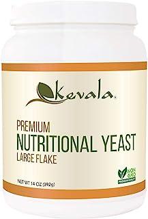 Kevala - Nutritional Yeast Delicious Vegan Seasoning - Low Sodium, Non-GMO, Gluten-Free, and Kosher - 14 Ounce