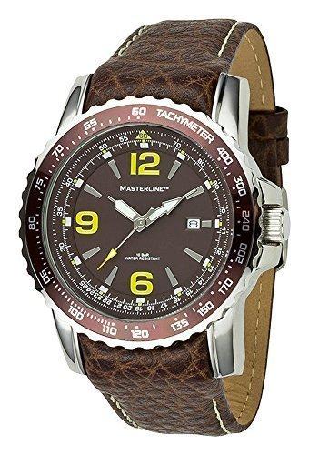 Masterline ML06139002–Uhr für Männer, Lederband braun