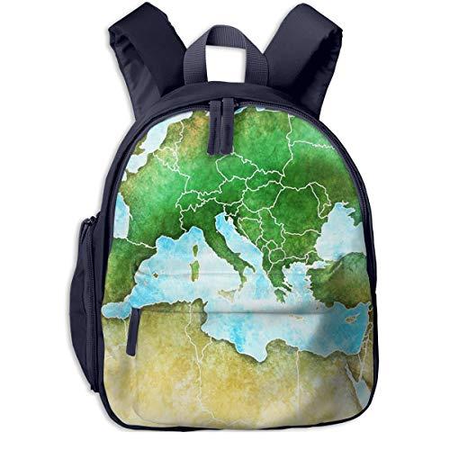 Kinderrucksack Kleinkind Jungen Mädchen Kindergartentasche Wasser Frankreich Karte Mittelmeer Backpack Schultasche Rucksack