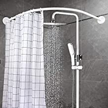 YOLOPLUS Curved Shower Rod Wall Mount Curved Bathroom Shower Curtain Rod Covers Wall Area of 35 to 35 Inches, Arc Radius 16 Inches