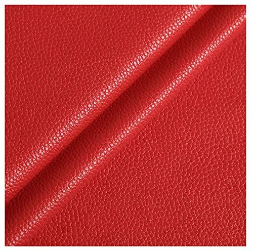 wangk Cuero de imitación Tela Cuero sintético Vinilo Paño de Cuero Material de Tela 140cm de Ancho Piel sintética para Asientos de Coche,sofá o sofá Multicolor 1,2 mm más Grueso-Rojo 7# 1.38x5m