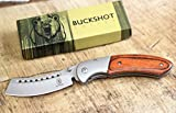 Wartech Buckshot Knives Thumb Open Spring Assisted Cleaver Classic Pocket Knife (PBK219WD)