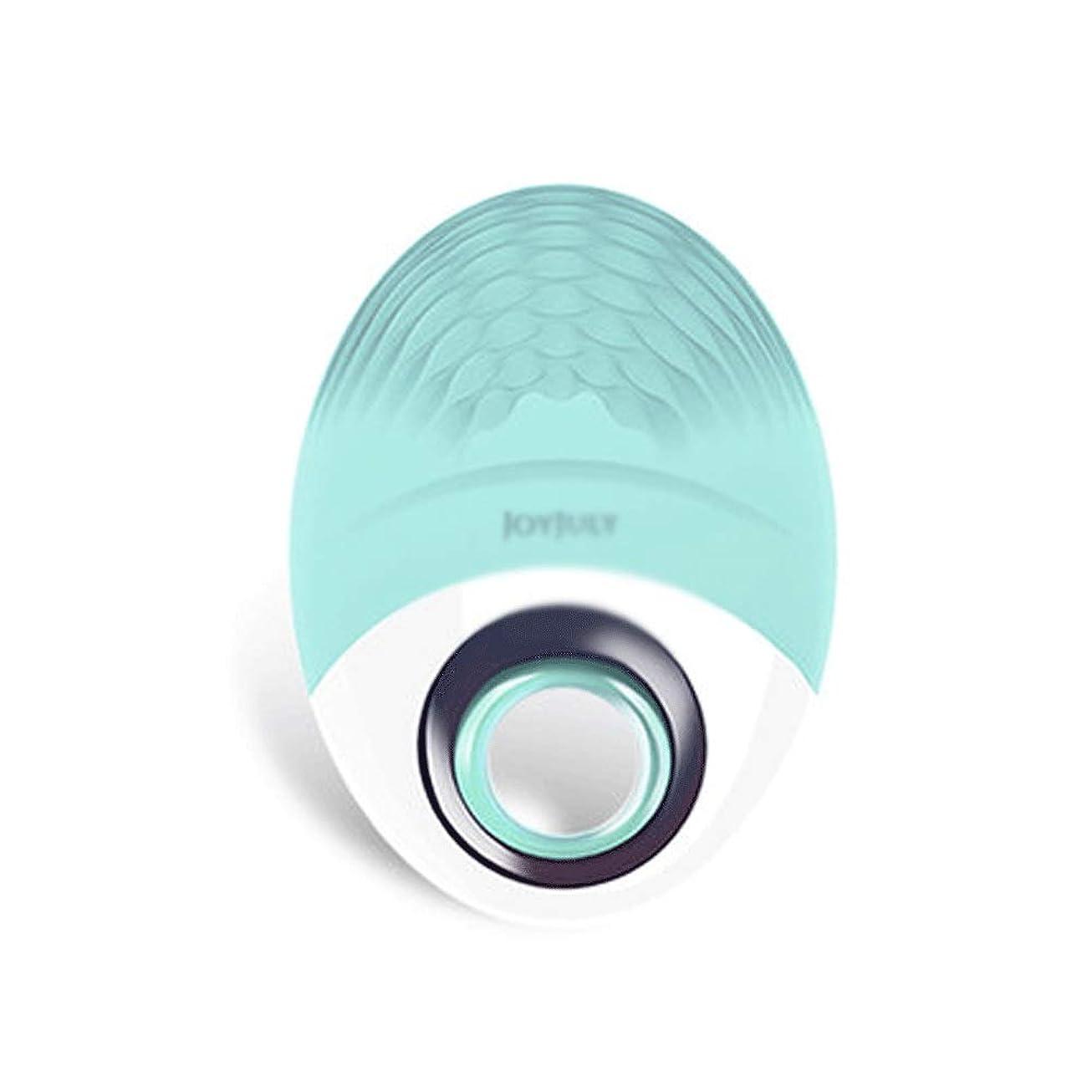スティックトロピカルシネウィHEHUIHUI- クレンジングブラシ、ディープクレンジングフェイシャル、防水および振動クレンジングブラシ、アンチエイジング、穏やかな角質除去、マッサージ(グリーン)