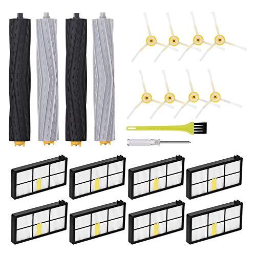 Jajadeal Pièces de Rechange pour iRobot Roomba 980 960 900 890 880 870 860 800 série Aspirateur, Kit d'accessoires de Remplacement de Brosse et Filtres - Set 2