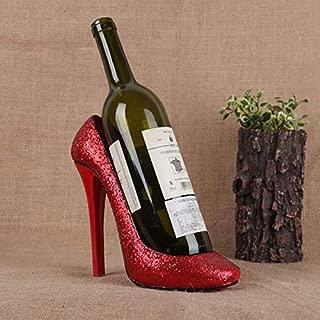 ZYJ Wine Bottle Holder, Resin High Heel Shoe Shaped Design Wine Rack Wine Stand Home Decoration Interior Crafts Gift 229.519.5CM