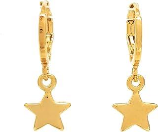 Arracada de Estrellas - Chapa Oro 22k - Elegantia Jewelry