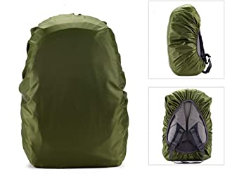 Flurries 💧 35-80L Waterproof Backpack Rain Cover Protecter - Case with Adjustable Fixed Drawstring Avoid to Falling Anti-Slip - Strengthened Layer Portable Hiking Camping Cycling (Green, 45L)