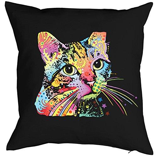 Catillac New Cat Chats Gatti Gatos Coussin, Pop Art Style