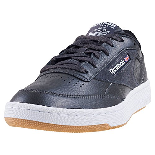 Reebok Męskie buty sportowe Club C 85 Estl, czarny - Grau Weiß Blau Gym Coal White Washed Blue Gum 000-43 EU