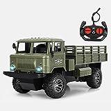 WZRYBHSD Army Truck Toy Chargeable Buggy 2.4Ghz Wireless Remote Control Car Rock Crawler Con Simulación De Luz Modelo De Vehículo Militar Juguetes Para Niños Para Niños Regalo De Cumpleaños De Navidad