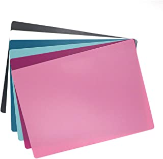 Flexible Cutting Mats, Plastic Cutting Boards Multiple Used as Placemat for Kitchen, Knife friendly, Dishwasher, 6 Colors, 6 Packs