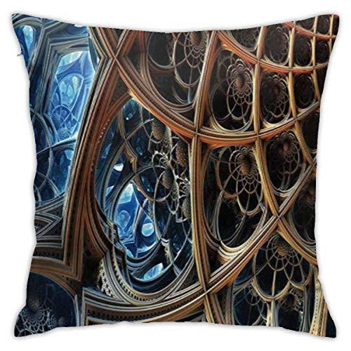 Funda de almohada con diseño de rayas dimensionales con efecto barroco retro, funda de cojín clásica, suave y cómoda, para habitación, sofá, silla, 26 x 26 pulgadas