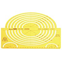 RISHIL WORLD® Large Ellipse Big Oval Semi Elliptical Shape Drawing Template KT Soft Plastic Ruler Drawing Board