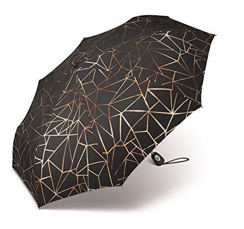 pierre cardin Regenschirm Taschenschirm Auf-Zu Automatik Metallic Kupfer / Gold