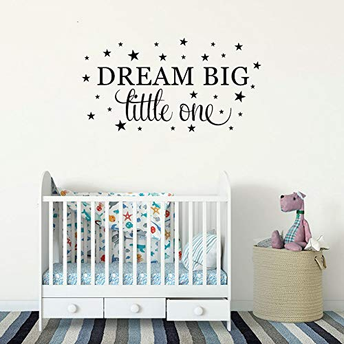 Stickers Muraux Dream Big Quote Bedroom Saying Baby Girls Boys Nursery Room Décoration Mots