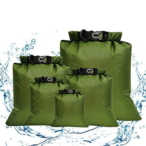Mochila impermeable – 5/6 bolsas de gimnasio, bolsas de almacenamiento ligeras, bolsas de viaje enrollables