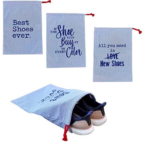 Earthwise bolsa de almacenamiento de zapatos para guardar y proteger zapatos en estilo fabricado en los Estados Unidos con cierre de cordón (3 unidades)